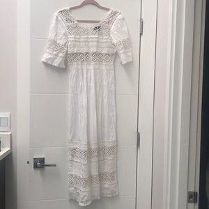 Topshop White Eyelet Dress size 2